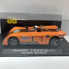 Slot Cars: COCHE SLOT CHEVRON B19 2 3H DEL EL CABO 1971 GB TRACK FABRICADO POR FLY CON CAJA NUEVO. Lote 178684176