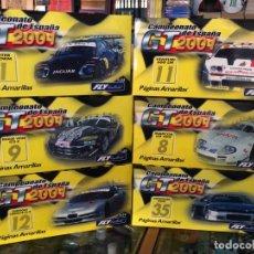 Slot Cars: COLECCION COMPLETA GT 2001 6 COCHES CON SU CAJAS NUEVOS FABRICA FLY PARA PAGINAS AMARILLAS VER FOTOS. Lote 178687801