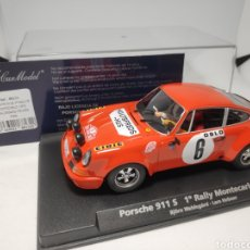 Slot Cars: FLY PORSCHE 911S 1°RALLYE MONTECARLO 1970 REF. 88134. Lote 178892802