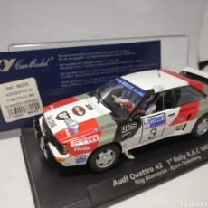 Slot Cars: FLY AUDI QUATTRO A2 1° RALLY RAC 1983 REF. 88245. Lote 231759640
