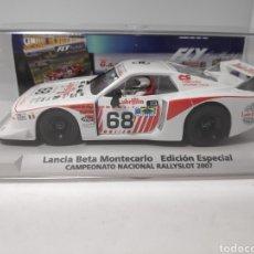 Slot Cars: FLY LANCIA BETA MONTECARLO EDICIÓN ESPECIAL CAMPEONATO NACIONAL RALLYSLOT 2007 REF. 99094. Lote 178902105