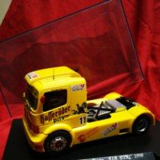 Slot Cars: SLOT MERCEDES BENZ ATEGO, FIA ETRC 1998, JORDI GENÉ- GB TRACK BY FLY. EN CAJA.. Lote 179013015