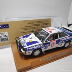 Slot Cars: FLY AUDI QUATTRO A2 RALLY SAFARI 1984 REF. 96097 E-1901. Lote 179096463