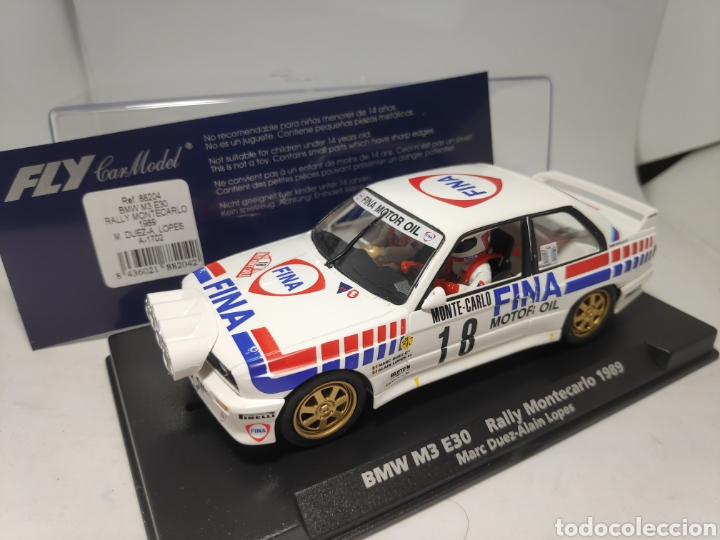 FLY BMW M3 E30 RALLY MONTECARLO 1989 REF. 88204 (Juguetes - Slot Cars - Fly)