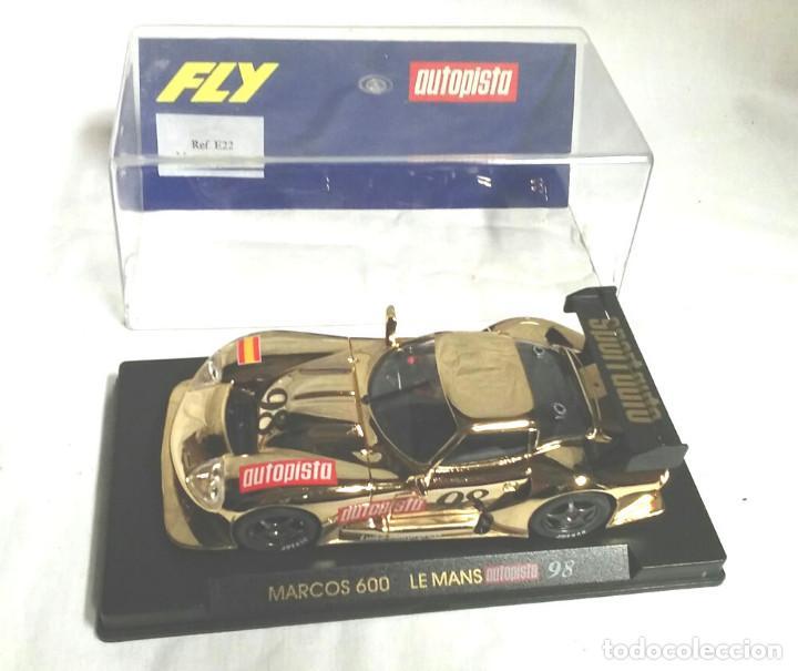 FLY COCHE MARCOS 600 LE MANS 98 AUTOPISTA DORADO (Juguetes - Slot Cars - Fly)