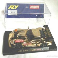 Slot Cars: FLY COCHE MARCOS 600 LE MANS 98 AUTOPISTA DORADO . Lote 183453522