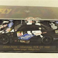 Slot Cars: FLY CAR MODEL 88035 LISTER STORM MAD COW. Lote 184094007
