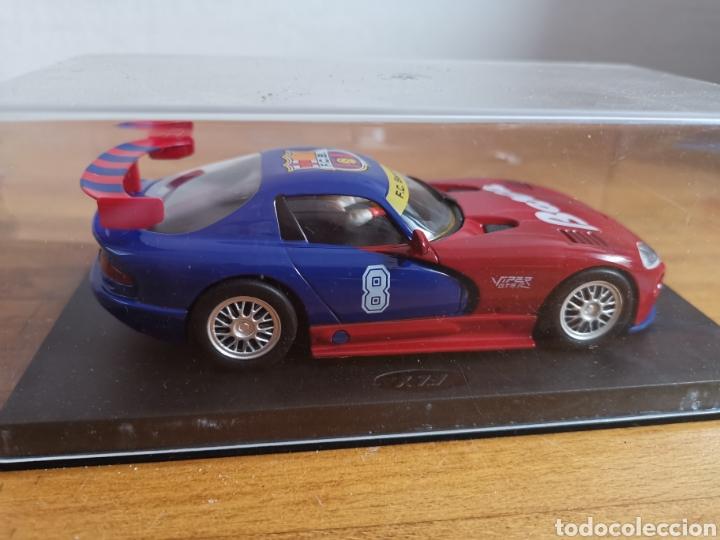 Slot Cars: Coche scalextric de Fly Dodge Viper Fútbol Club Barcelona - Foto 4 - 184206995