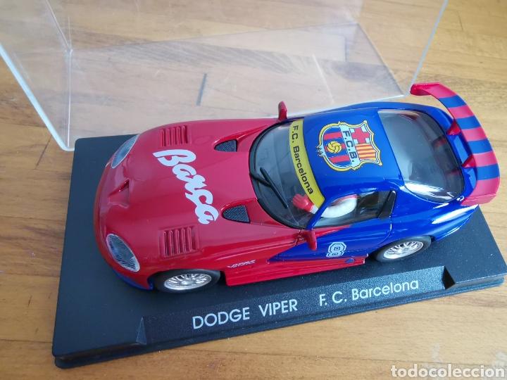 Slot Cars: Coche scalextric de Fly Dodge Viper Fútbol Club Barcelona - Foto 6 - 184206995