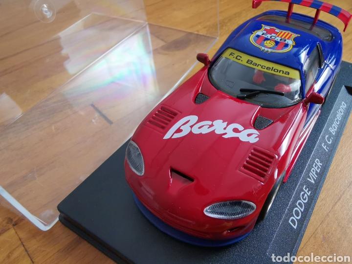 Slot Cars: Coche scalextric de Fly Dodge Viper Fútbol Club Barcelona - Foto 7 - 184206995
