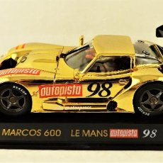 Slot Cars: FLY CAR MODEL MARCOS 600 LE MANS AUTOPISTA 98. Lote 184685455