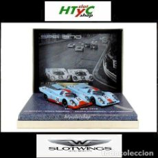 Slot Cars: SLOTWINGS 2 X PORSCHE 917K RESINA GULF 1000 KM SPA 1970 PLATINUM COLLECTION 78 UNIDADES FLY. Lote 187436500