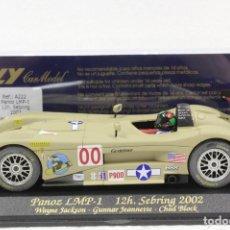 Slot Cars: FLY A-222 PANOZ LMP-1 12H SEBRING 2002. Lote 163800706