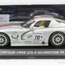 Slot Cars: FLY A-81 CHRYSLER VIPER GTS-R SILVERSTONE 99. Lote 189299156