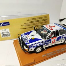 Slot Cars: FLY AUDI QUATTRO A2 RALLY SAFARI 1984 REF. 96097 SCALEXTRIC. Lote 193025666