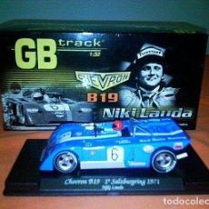 Slot Cars: GB TRACK GB-14 CHEVRON B19 NIKI LAUDA, 1º SALZBURGRING 1971 ED LIM Y NUMERADA. Lote 194147326