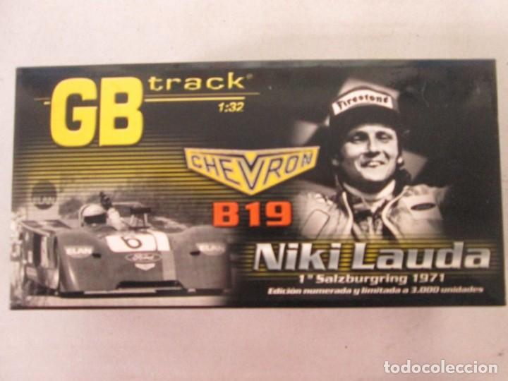 Slot Cars: GB TRACK GB-14 CHEVRON B19 Niki Lauda, 1º Salzburgring 1971 ED LIM Y NUMERADA - Foto 4 - 194147326