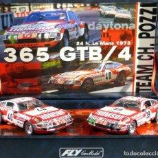 Slot Cars: FLY 96047 TEAM 09 FERRARI 365GTB/4 DAYTONA 24H LE MANS 1973. Lote 194160133