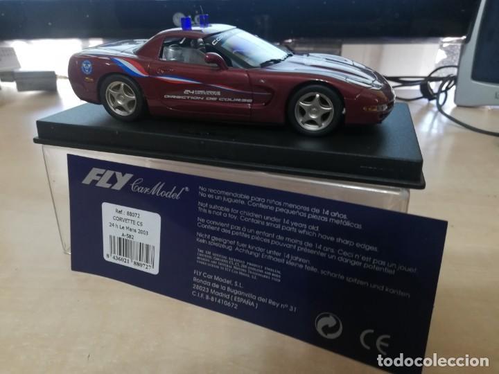 Slot Cars: CHEVROLET CORVETTE C-5 SCALEXTRIC DE FLY DIRECTION DE COURSE - Foto 2 - 194210607