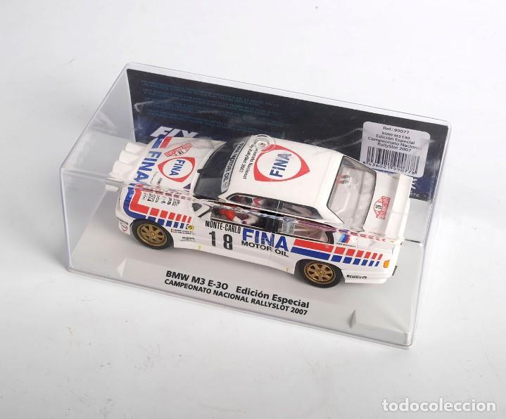 Slot Cars: BMW M3 E-30. ED ESPECIAL CAMPEONATO NACIONAL RALLYSLOT 2007. FLY. NUEVO - Foto 3 - 194354142