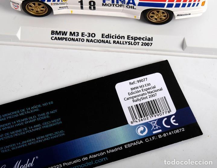Slot Cars: BMW M3 E-30. ED ESPECIAL CAMPEONATO NACIONAL RALLYSLOT 2007. FLY. NUEVO - Foto 11 - 194354142