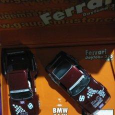 Slot Cars: 96031- FERRARI DAYTONA +BMW 3,5 CSL EDICIÓN ESPECIAL GAUGEMASTER DE FLY. Lote 194716992