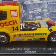 Slot Cars: MERCEDES BENZ ATEGO FIA ETRC 2001 ROLAND REHFELD FLY. Lote 194900192