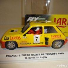 Slot Cars: FLY. RENAULT 5 TURBO. LARIOS. RALLYE DE TENERIFE 1988. EFECTO BARRO. REF. E2005. Lote 196930116