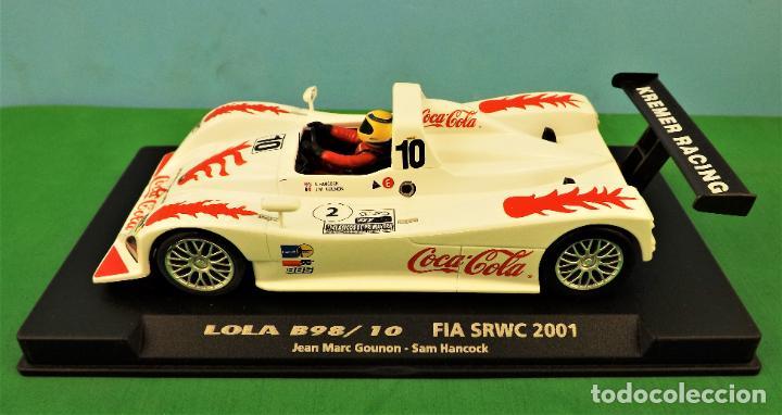Slot Cars: Slot Fly 88050 Lola B98 Coca Cola - Foto 3 - 197121757