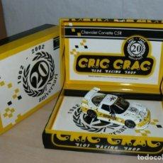 Slot Cars: SCALEXTRIC FLY 1982 - 2002 CRIC CRAC 20 ANIVERSARI CHEVROLET CORVETTE C5R COCHE CAR EDICION LIMITADA. Lote 198330711
