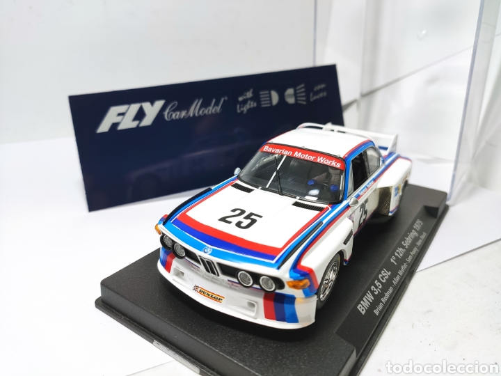 Slot Cars: FLY BMW 3,5 CSL 1° 12 H. SEBRING 1975 REF. 99011 CON LUCES - Foto 2 - 220913903