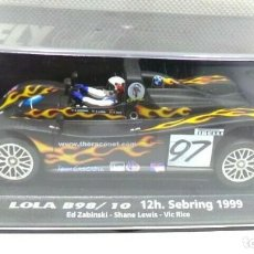 Slot Cars: FLY CAR MODEL 88066 LOLA B98/10 12H SEBRING 1999. Lote 200765657