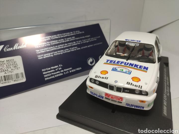 Slot Cars: FLY BMW M3 E30 CTO. ESPAÑA RALLYES 1987 BASSAS REF. 88203 - Foto 2 - 203265903