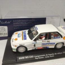 Slot Cars: FLY BMW M3 E30 CTO. ESPAÑA RALLYES 1987 BASSAS REF. 88203. Lote 203265903
