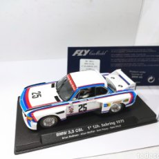 Slot Cars: FLY BMW 3,5 CSL 1° 12 H. SEBRING 1975 REF. 99011 CON LUCES. Lote 204612605
