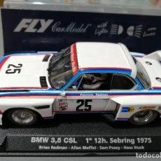 Slot Cars: A-685L. 99011. BMW 3´5 CSL CON LUCES DE SEBRING 1975 DE FLY. Lote 205582480