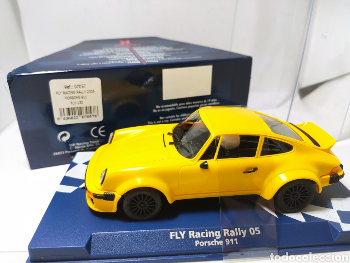FLY RACING RALLY 2005 PORSCHE 911 AMARILLO REF. 07057 (Juguetes - Slot Cars - Fly)