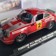 Slot Cars: FLY PORSCHE 911 RALLY 2000 VIRAJES 1974, PALMERA, FORO SLOT 2020,150 UNID. SUCIO.VÁLIDO SCALEXTRIC. Lote 206882755