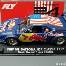 Slot Cars: A2010- BMW M1 RED BULL DAYTONA CLASSIC 2017 DE FLY. Lote 206900958