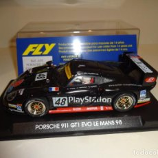 Slot Cars: FLY. PORSCHE 911 GT1 EVO. PLAYSTATION. LE MANS 1998. REF. A-55. Lote 207041682