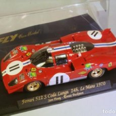 Slot Cars: FLY FERRARI 512S CODA LUNGA 4º LE MANS 1970 POSEY-BUCKNUM. Lote 208360091