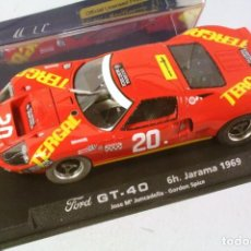 Slot Cars: FLY. FORD GT 40 6H JARAMA 1969. JOSE Mª JUNCADELLA-GORDON SPICE. Lote 208666208