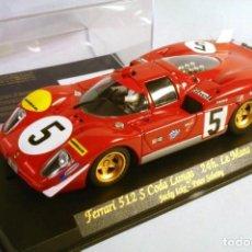 Slot Cars: FLY. FERRARI 512S CODA LUNGA #5 LE MANS 1970. JACKY ICKX - PETER SCHETTY. Lote 208667090