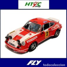 Slot Cars: FLY PORSCHE 911 #2 FOROSLOT MADRID 2020 RALLY VIRAJES 1974 ETCHEBERS / ETCHEBERS E2002. Lote 209588973