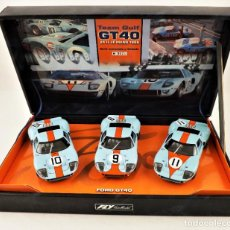 Slot Cars: FLY CAR MODEL TEAM GULF LE MANS 68 FORD GT 40. Lote 209815058
