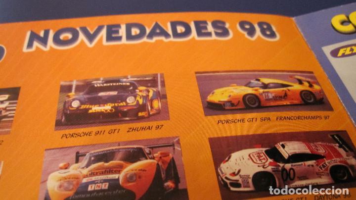 Slot Cars: FLY CAR MODEL ORIGINAL: PRECATALOGO COCHES FABRICADOS Y NOVEDADES 1998. DIPTICO MUY DIFICIL - Foto 2 - 211648051