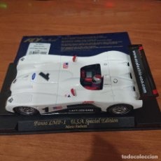 Slot Cars: COCHE SCALEXTRIC PANOZ LMP-1 MARIO ANDRETTI FLY CAR MODEL. Lote 211822740