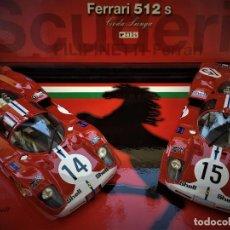 Slot Cars: FERRARI 512 S CODA LUNGA FLY EQUIPO FILIPINETTI. Lote 213884080