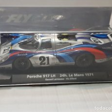 Slot Cars: COCHE SLOT FLY PORSCHE 917 LH COLOR PLATA LE MANS 1971 MADE IN SPAIN EN BLISTER DIFÍCIL. Lote 213885251