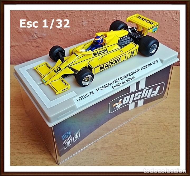 FLY SLOT 058102 - LOTUS 78 GP AURORA 1979 EMILIO VILLOTA (Juguetes - Slot Cars - Fly)